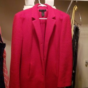 Size large Red wool coat The Limited